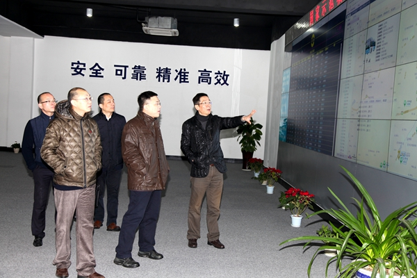 上海银行杭州分行副行长郭俊一行来西湖电子集团参观访问图片